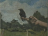 The Artists Hand with a Young Crow